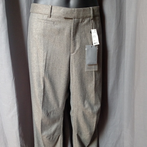 Alexander McQueen Other - ALEXANDER MCQUEEN Men's Gray Wool Pants/Flat Front